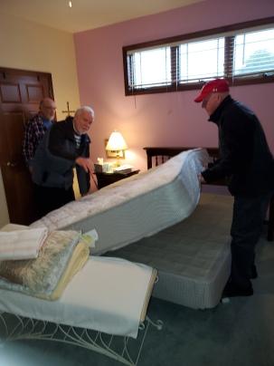 mattress flip in action